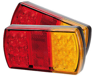 AU69.99 • Buy Led Small Rear Trailer Lamp Combo 10-30v Stop/tail/ind 150x80mm
