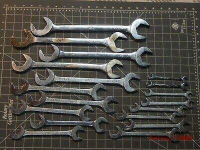 $549.99 • Buy Mac Tools 18Pc SAE 4 Way Angle Head Open End Wrench Set 3/8  1 1/2  Four