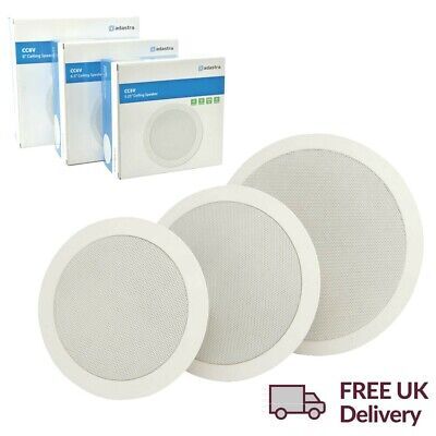 £26.99 • Buy Slim Ceiling Speakers Adastra CCV 2-Way Profile 100V 8Ohm Install White In Wall