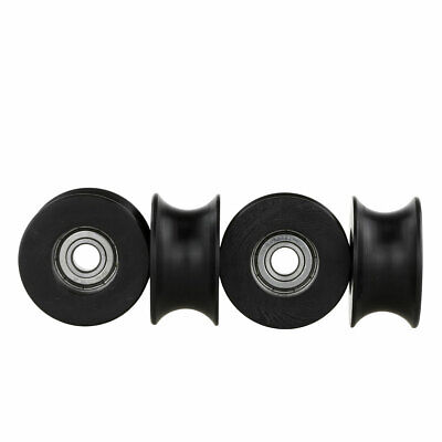 4 DIY DSLR Video Camera Camcorder U Groove Wheel For Table Top Compact Dolly Kit • 16.48£