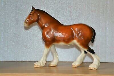 BESWICK Porcelain Ceramic Large Shire Horse (2) • 30£