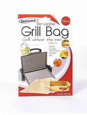 Reusable Grill Bag Paninis Toasted Sandwiches Chicken Fish   • 2.29£