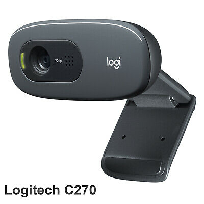 AU59.99 • Buy Logitech Plug And Play C270 HD WebCam Camera For Desktop PC With Built-in Mic