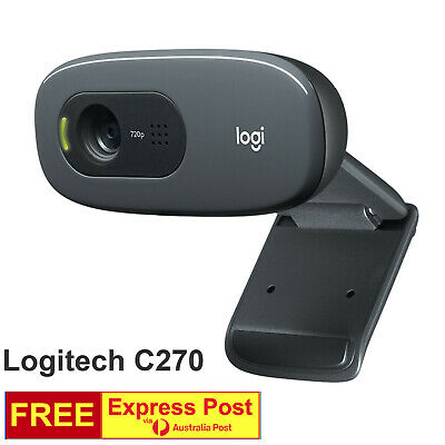 AU75 • Buy Logitech Plug And Play C270 HD WebCam Camera For Desktop PC With Built-in Mic