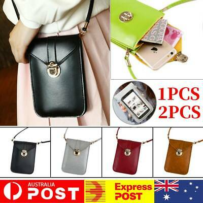 AU14.99 • Buy Women PU Leather Crossbody Bag Mobile Phone Bag Pouch Card Wallet Touch Screen