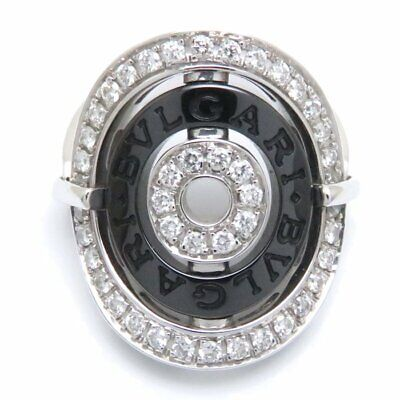 AU2289.88 • Buy BVLGARI 18K White Gold Black Ceramic Diamond Astrale Cerchi Ring 4.5-5 /093298