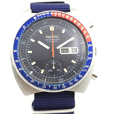 $ CDN527.27 • Buy Vintage Seiko Chronograph 6139-6002 Automatic 41mm Mens Japan Wrist Watch A8136