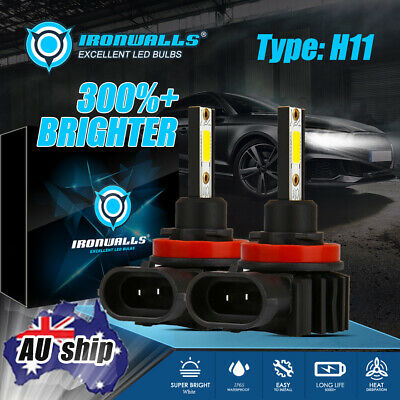 AU29.99 • Buy H11 H9 H8 LED Headlight Kit Low Beam Bulbs 80W 6500K White Replace Halogen Lamp