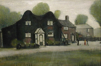 Framed LS Lowry Print - An Old Farm (Picture Painting English Artist Artwork) • 7.95£