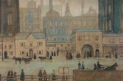 Framed LS Lowry Print – Coming From The Mill (Picture Painting English Artist) • 7.95£