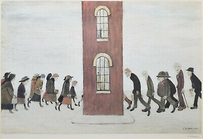Large Framed LS Lowry Print – The Meeting Point (Picture Painting English Art) • 24.95£