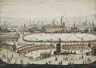 Large Framed LS Lowry Print – The Pond C1950 (Picture Painting English Artist) • 24.95£