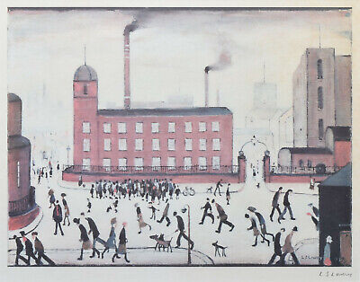 Large Framed LS Lowry Print – Mill Scene (Picture Painting English Artist Art) • 24.95£