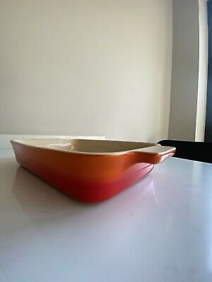 Le Creuset Rectangular Dish / Baking /Casserole 26cm Volcanic - Red/orange • 26£