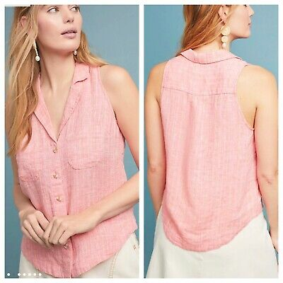 $ CDN24.49 • Buy Anthropologie Sleeveless Linen Blend Felicity Top Size 6
