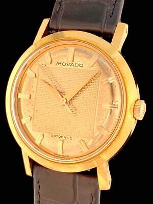 $ CDN673.57 • Buy DELUXE Vintage MOVADO AUTOMATIC Dress WATCH FANCY Gold DIAL HIGH GRADE Cal 431 A