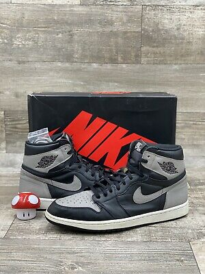 $219.99 • Buy Nike Air Jordan 1 Retro High OG Shadow Grey Black White 2018 555088-013 Size 14
