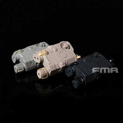 FMA Outdoor Airsoft Paintball PEQ 15  Battery Case + Green Laser BK/DE/FG • 18.99£