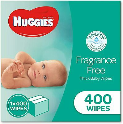AU22.90 • Buy HUGGIES Fragrance Free Baby Wipes Alcohol Free, 400 Wipes Refill Pack