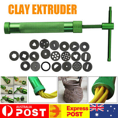 AU14.99 • Buy Clay Extruder Fondant Polymer Craft Gun Cake Cookie Pastry Slime Toy W/20Discs