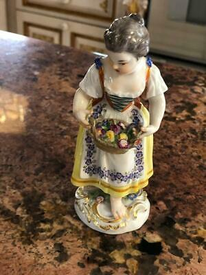 $ CDN136.76 • Buy Beautiful Meissen Porcelain Figurine Of Girl/Lady W/Basket