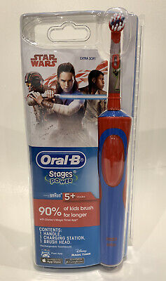 AU28.95 • Buy Oral B Vitality Power Electric Toothbrush Kids/Boys Star Wars