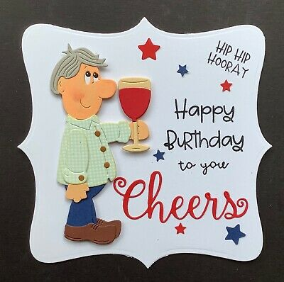 A Large Handmade Birthday Card Topper For A Mans Birthday ..cheers 4 • 1.99£