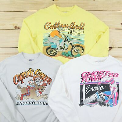 $ CDN101.83 • Buy Vintage T Shirt Lot 3 Pieces Men's Large Multicolor Crewneck