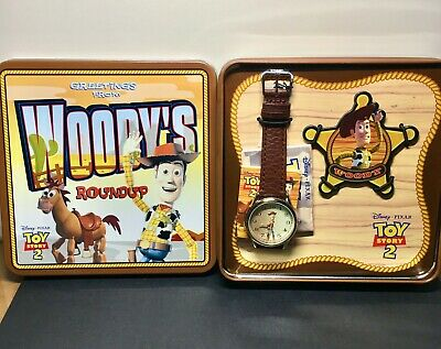 $87 • Buy Disney Pixar TOY STORY 2 WOODY'S ROUNDUP Fossil Limited Edition RARE Watch W/COA