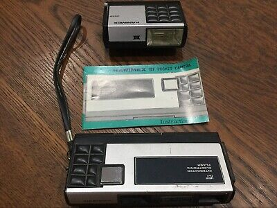HANIMEX IEF 110 Integrated Electronic Flash Old Vintage Camera - C1970's - Japan • 16.24£