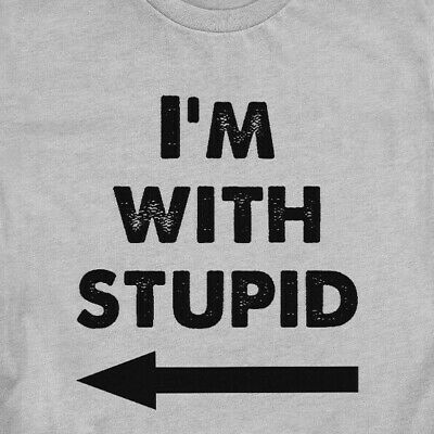 I'm With Stupid T-Shirt Couple Gift BF GF Shirt - 2421 • 14.40£