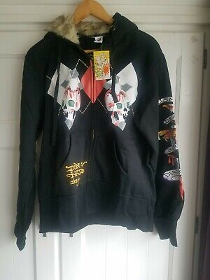 Vintage Don Ed Hardy By Christian Audigier Mens Hoody Size Large  • 50£