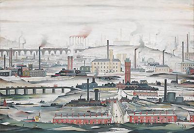 LS Lowry Framed Print – Industrial Landscape (Picture Painting English Artist) • 7.95£