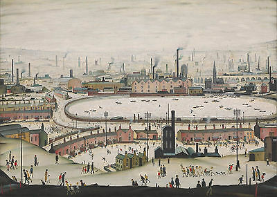 LS Lowry Framed Print – The Pond 1950 (Picture Painting English Artist Artwork) • 7.95£