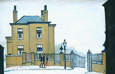 LS Lowry Framed Print – The Old House Grove Street Salford (Picture Painting) • 7.95£