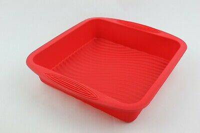 £8.25 • Buy SQUARE 24x24x5cms BROWNIE CAKE BAKING TIN TRAY SET LASAGNE BREAD SILICONE