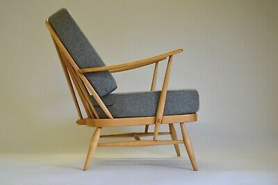Ercol 204 Windsor Armchair With Dark Grey Wool Covers • 695£