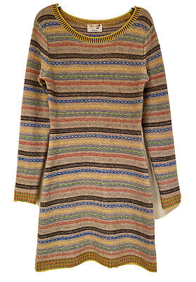 £695 Louise Gray For Brora 100% Cashmere Sweater Jumper Dress 10uk • 170£