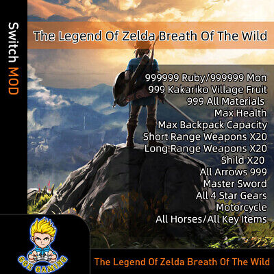 $40 • Buy Legend Of Zelda: Breath Of The Wild (Switch Mod)-Game Is Not Included!!!