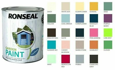 Ronseal Outdoor Garden Paint - For Exterior Wood Metal Stone Brick - All Colours • 9.48£