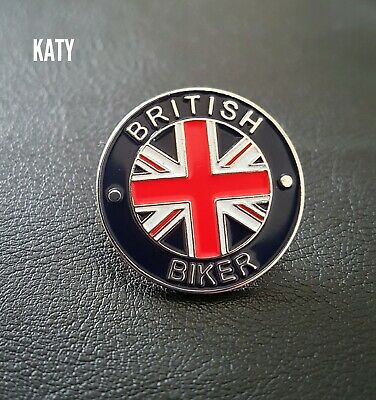 British Biker Motorbike Motorcycle Bike Badge Vintage Pin Enamel Brooch Broach • 3.60£