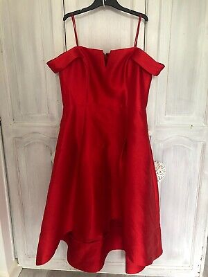 Womens High-Low Red Formal Dress In Size 16 • 30£