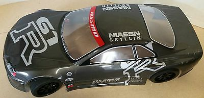 1/10 RC Car 190mm On Road Drift Nissan GTR Body Shell W/spoilers Grey • 12.95£