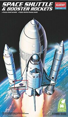 Model Kit Academy Space Shuttle & Booster Rockets 1:288 Scale Snap Tite Kit • 15£