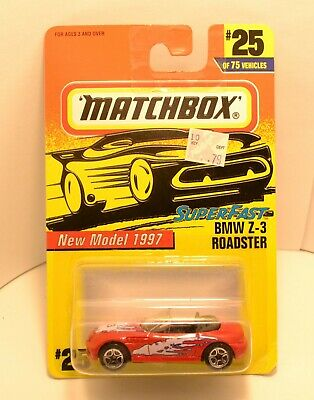 $0.99 • Buy Matchbox® Superfast™ 1997 #25 ~ Bmw Z-3 Roadster In Red ~ 1st Issue
