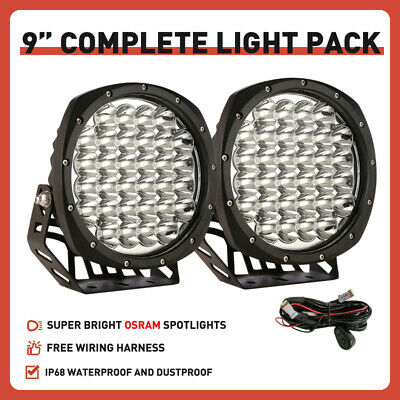 AU102.95 • Buy OSRAM NEW Black Spotlights 9inch Pair LED Driving Lights Spot Offroad Truck 4WD