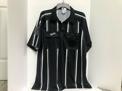 $12.99 • Buy Soccer Fed Official Referee Shirt Jersey Offical Sports Black White Stripe L