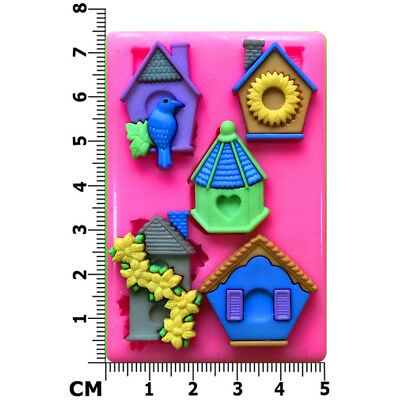 £5.95 • Buy Birdhouse Dove Houses Silicone Mould By Fairie Blessings