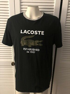 $ CDN13.53 • Buy Vintage Lacoste Black Spellout T-Shirt Mens XL X-Large Size 8 Logo