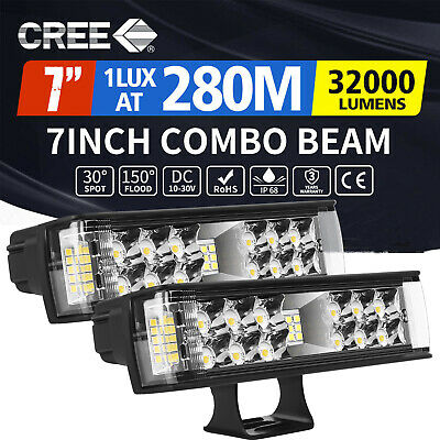 AU36.65 • Buy 2x 7inch LED Light Bar Spot Flood Combo Work Driving Lights Offroad Truck 4WD 6